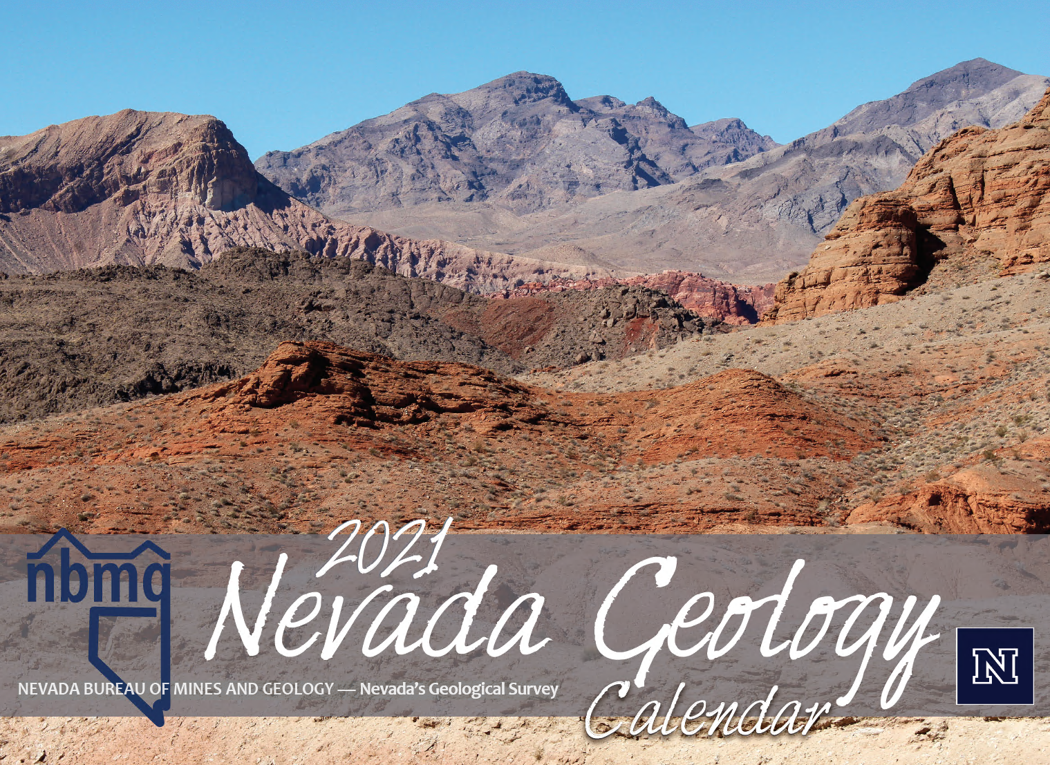 Cover of the 2021 Nevada Geology Calendar