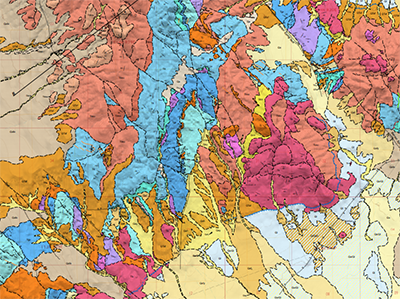 Sample of a published NBMG geologic map.